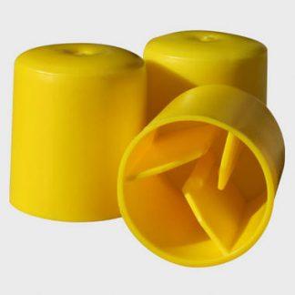 Round Yellow Star Picket Cap